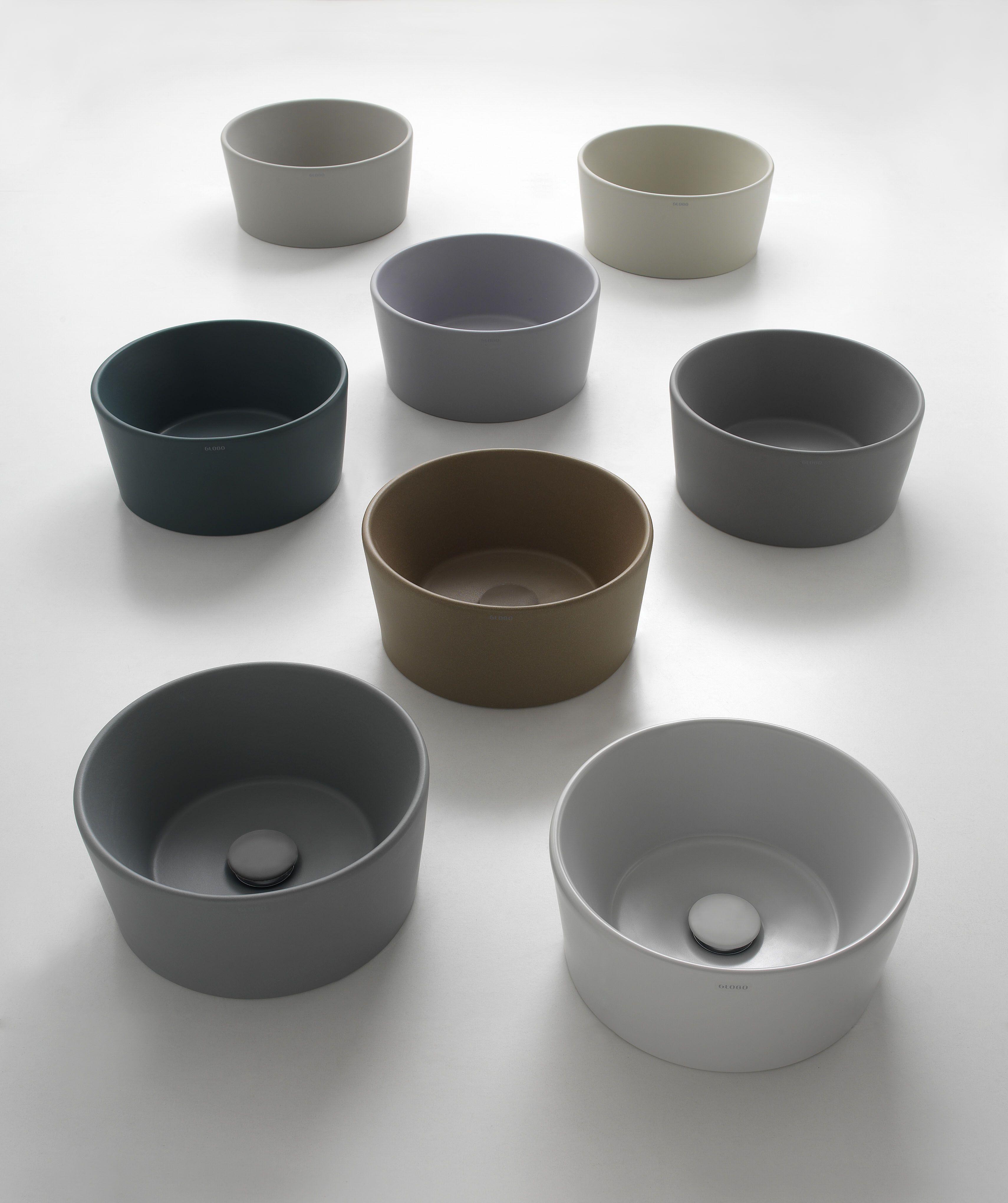 Opzetwastafels van keramiek in verschillende kleuren - Globo via ... - Collezione lavabi Stockholm di Ceramica Globo Leggi l'articolo su  www.designlover.it