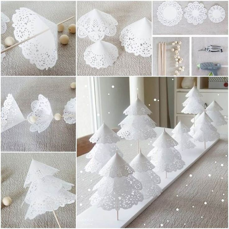 id es cr atives arbres jolies bricolage papier napperon. Black Bedroom Furniture Sets. Home Design Ideas