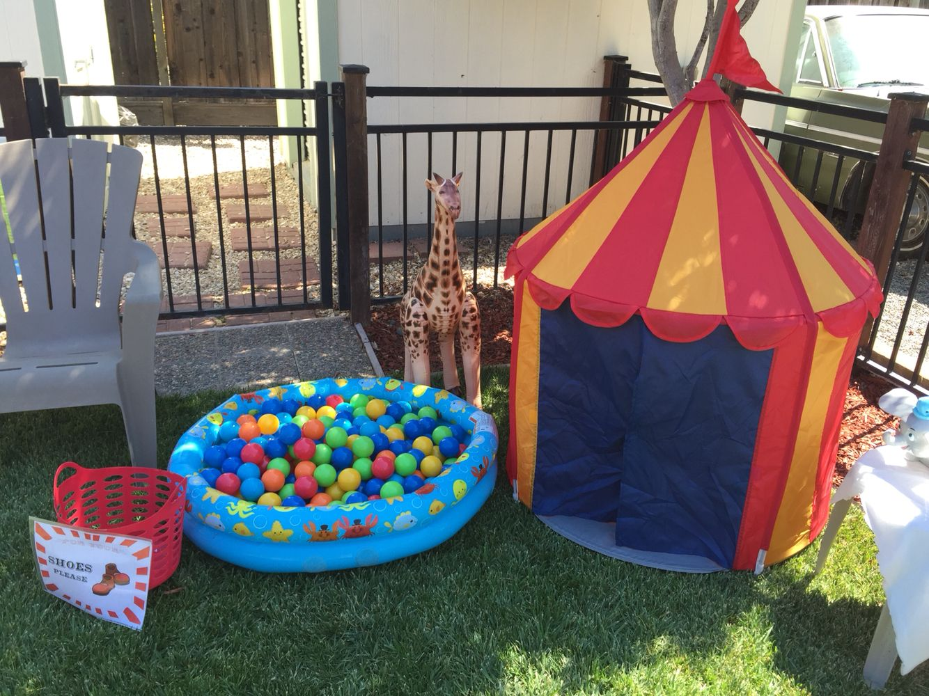 Circus Party Toddler Play Zone - DIY ball pit u0026 Ikea kids tent! & Circus Party Toddler Play Zone - DIY ball pit u0026 Ikea kids tent ...