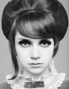 "Mod Girl makeup, with hair ""DeLarge""er than Big Ben's ..."