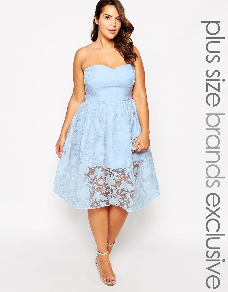 Chi chi london plus lace bandeau prom dress wardrobe staplesstyle