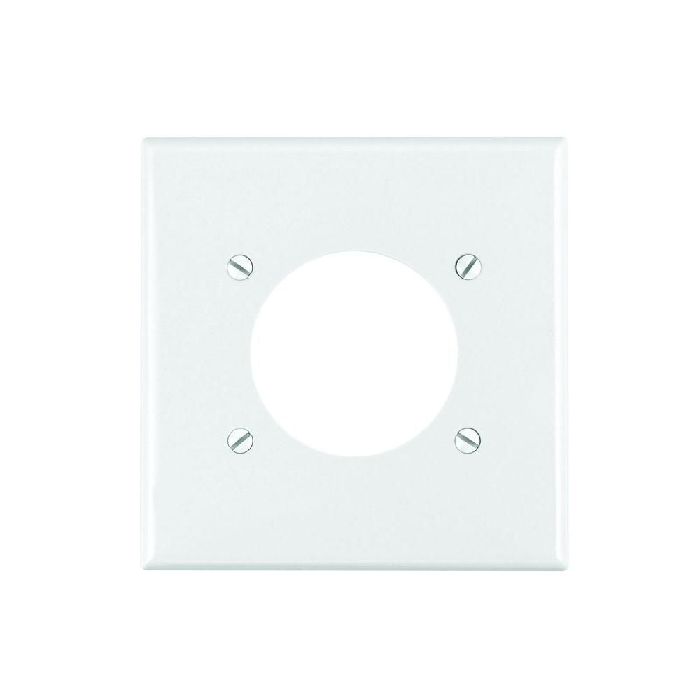 Leviton White 1 Gang Single Outlet Wall Plate 1 Pack R52 80726 00w Plates On Wall Wall Plates