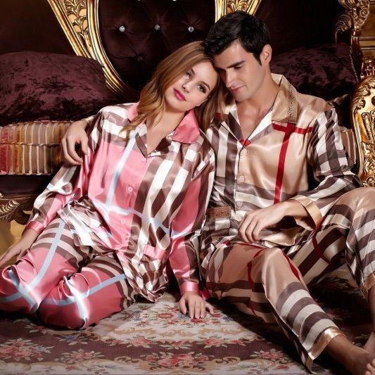 His And Hers Matching Christmas Pajamas: Silk Pajamas, His & Hers Matching Set On Yoyoon.com