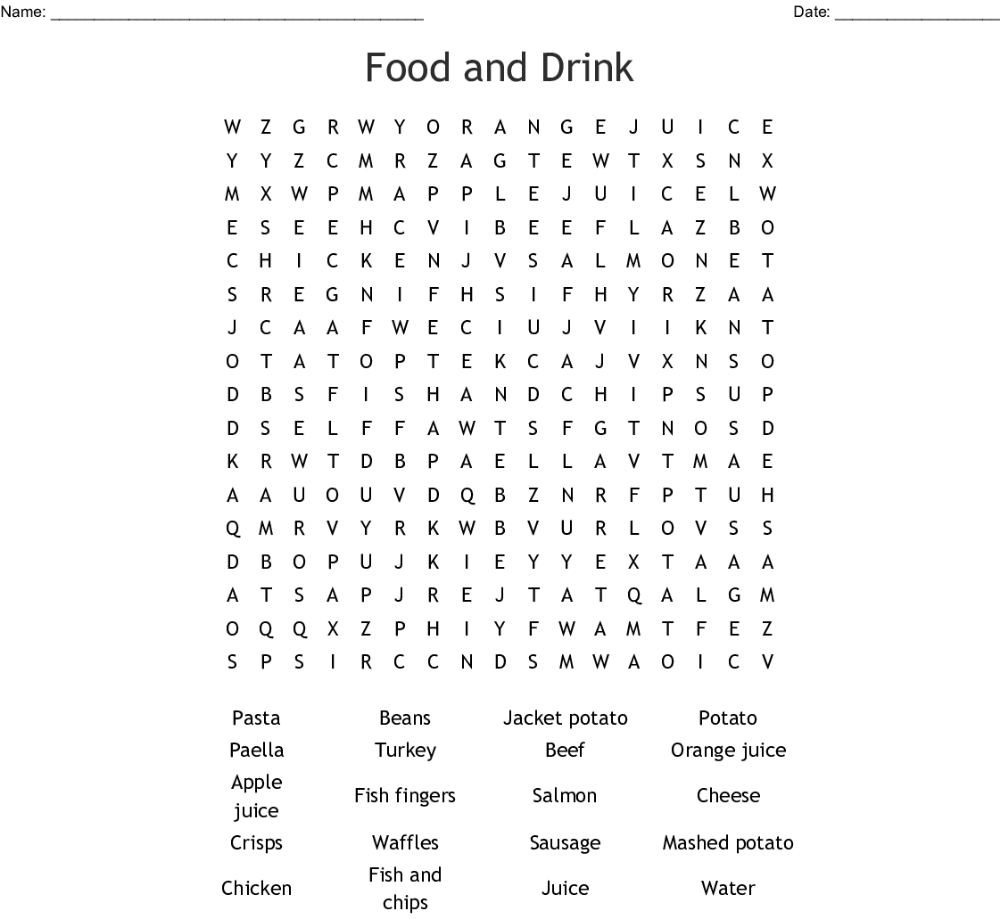food word searches Google Search Food words, Word