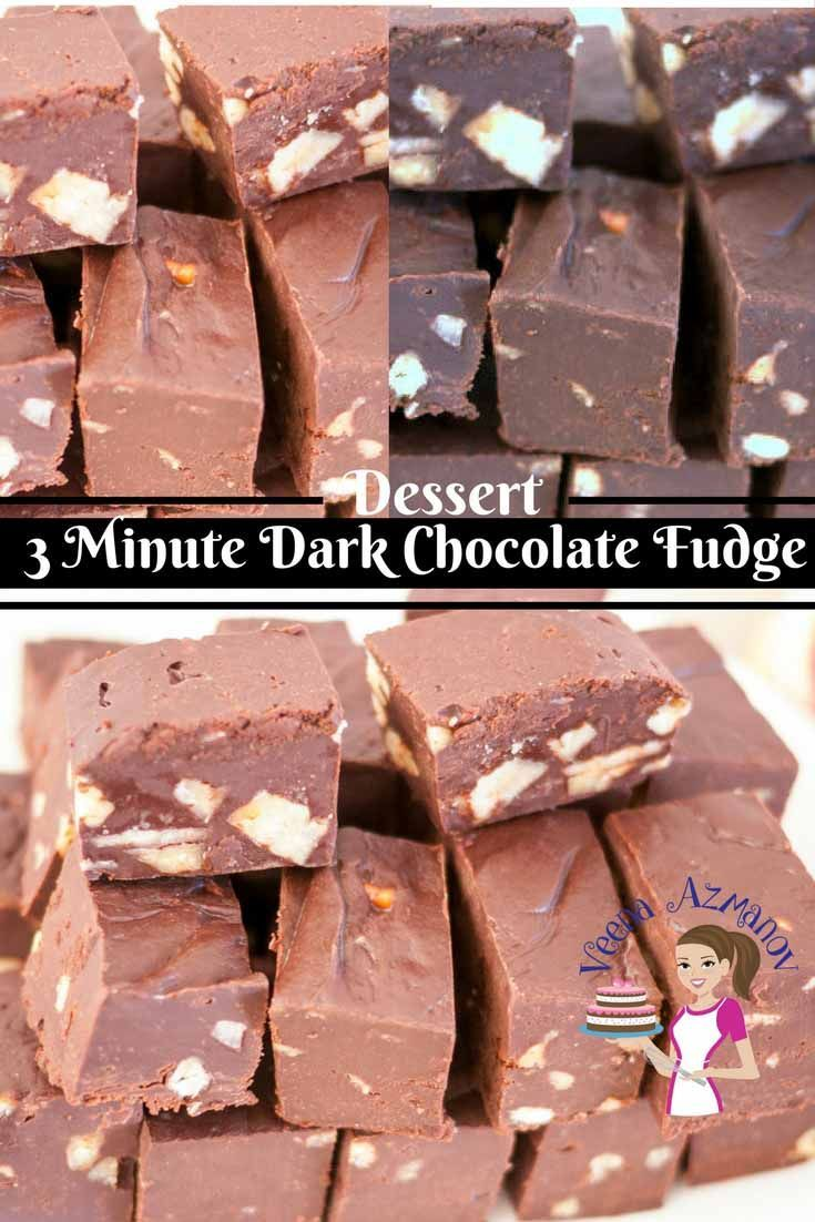This 3 Minute Dark Chocolate Fudge Recipe Is A Great Treat To Have Any Time Of The Day A Bat Fudge Recipes Fudge Recipes Chocolate Dark Chocolate Fudge Recipe