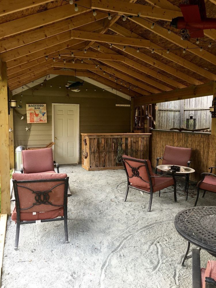 Backyard Tiki Bar Used outdoor furniture, Rustic outdoor