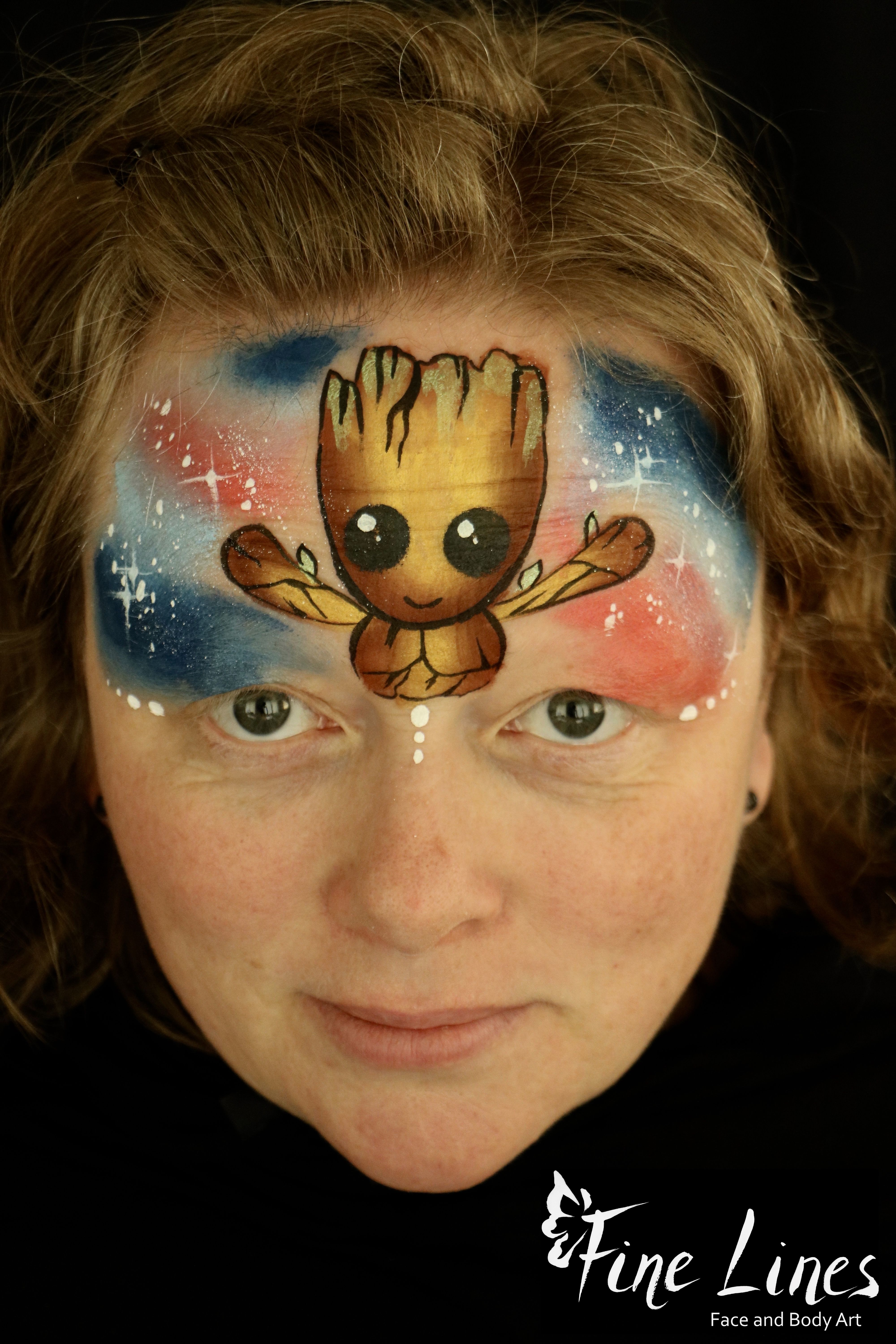 Avengers Face Painting Baby Groot Avengers Kinderschminken Baby Groot Fine Lines Face And Face Painting Designs Superhero Face Painting Face Painting For Boys