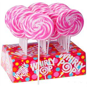 $2.99 Pink & White Whirly Pop Swirl Pop  http://www.thecandycity.com/wholesale-bulk-candy/whirly-pops-pink-and-white.html