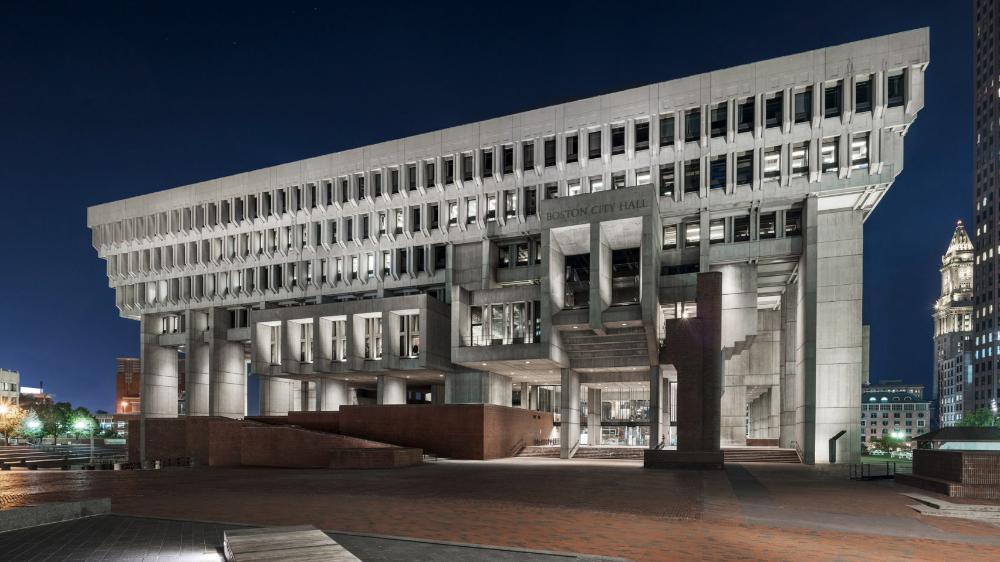 Boston City Hall Renovation Preserves Honesty Of Brutalist Building City Hall Architecture Brutalist Buildings Boston City Hall