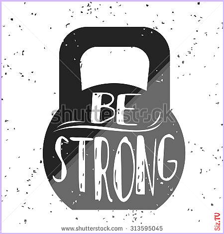 inspirational motivational bodybuilding illustration typographic lettering fitness banner design tsh...
