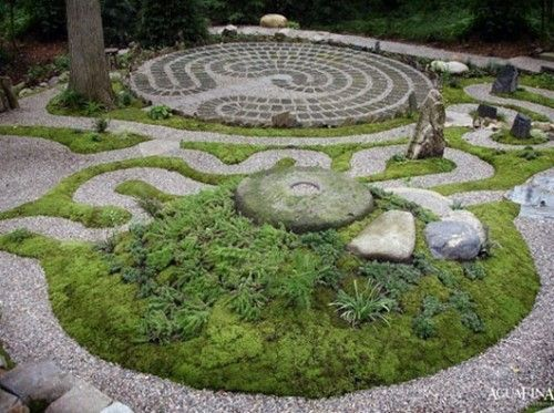 Herb Garden Labyrinth With A Decorative Berm By Toby Designs