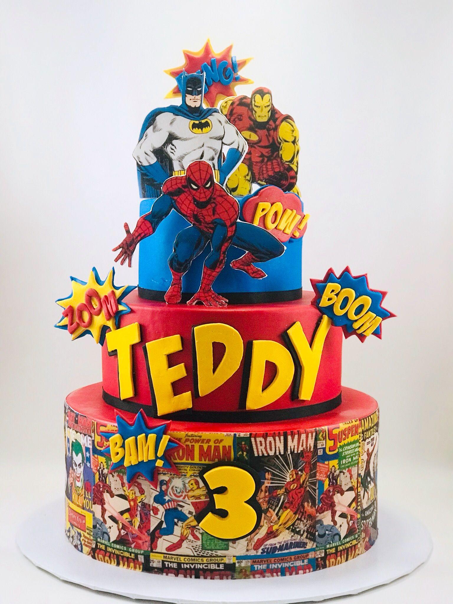 Superhero Comic Book Cake By Paris Custom Cakes With Images