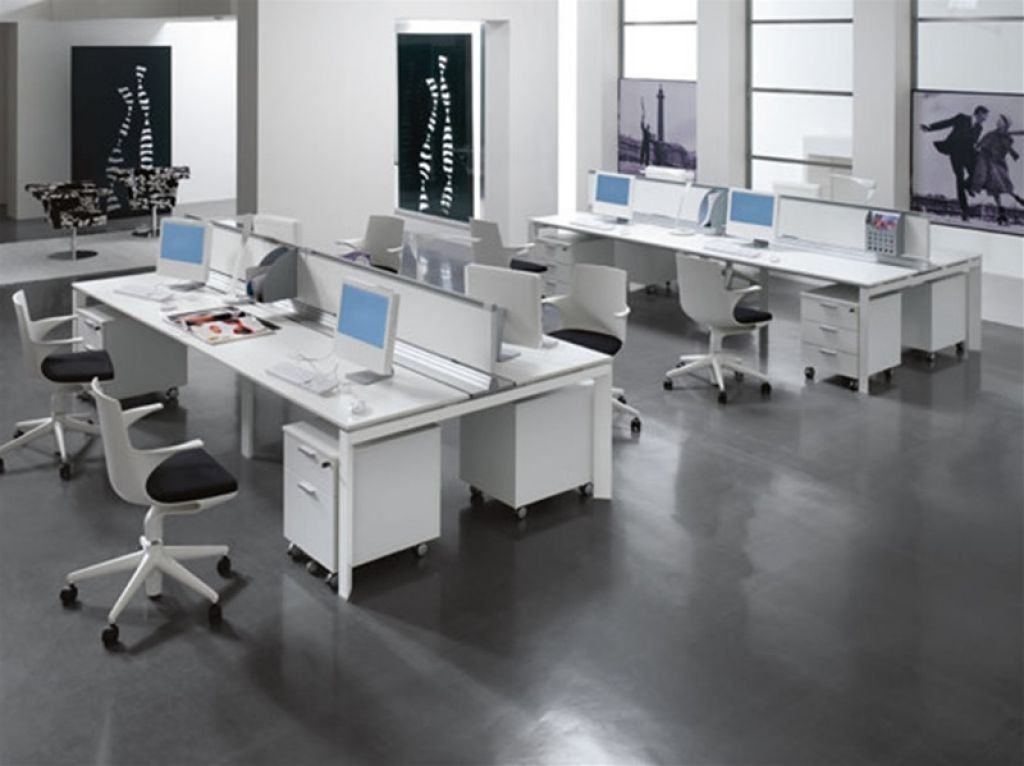 Schreibtisch L Form Groß