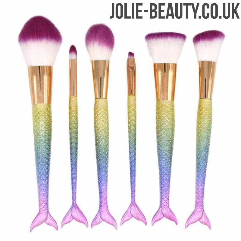 Mermaid Makeup Brushes with scales & tails
