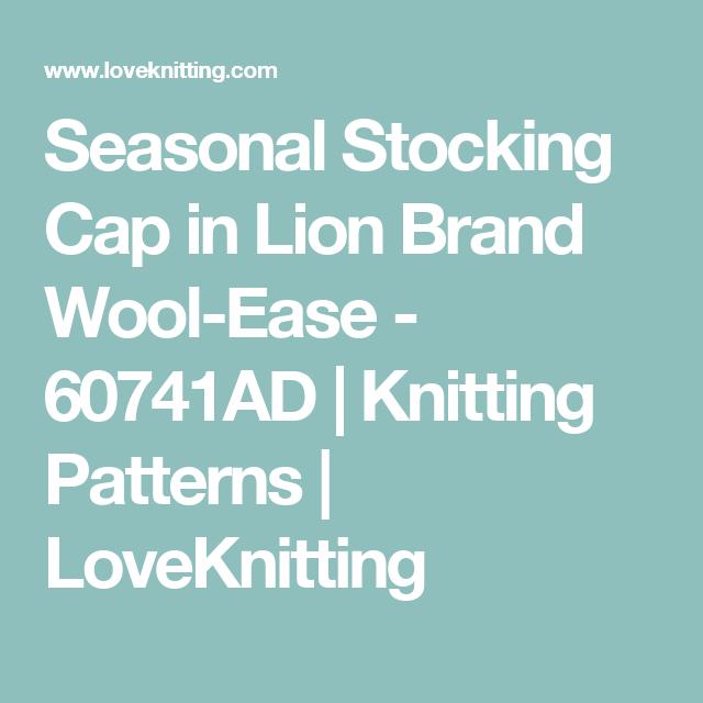 Seasonal Stocking Cap in Lion Brand Wool-Ease - 60741AD | Knitting ...