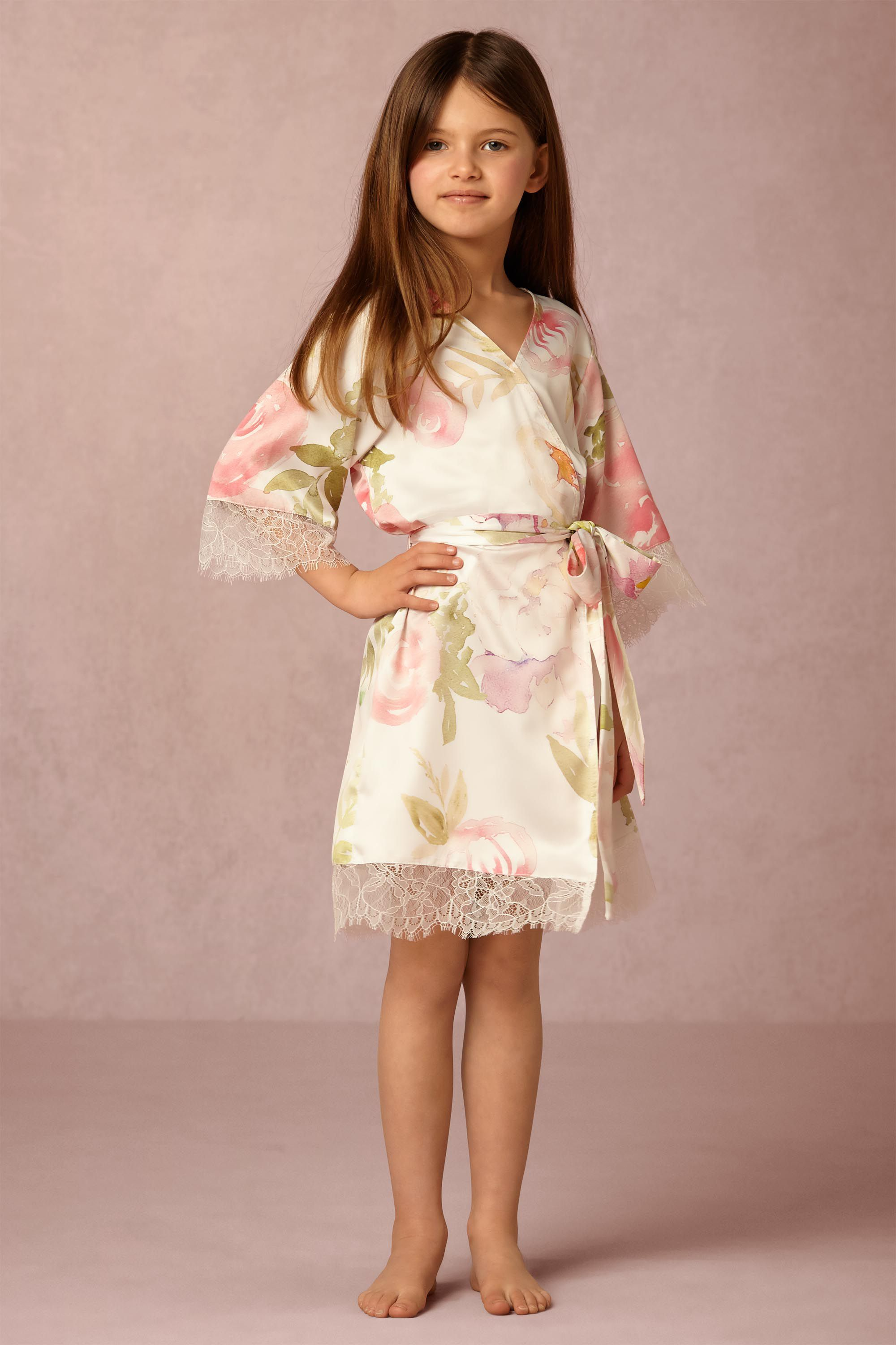 Girls wedding dress  BHLDN Garden Girl Robe in Bridesmaids Flower Girl Dresses  BHLDN