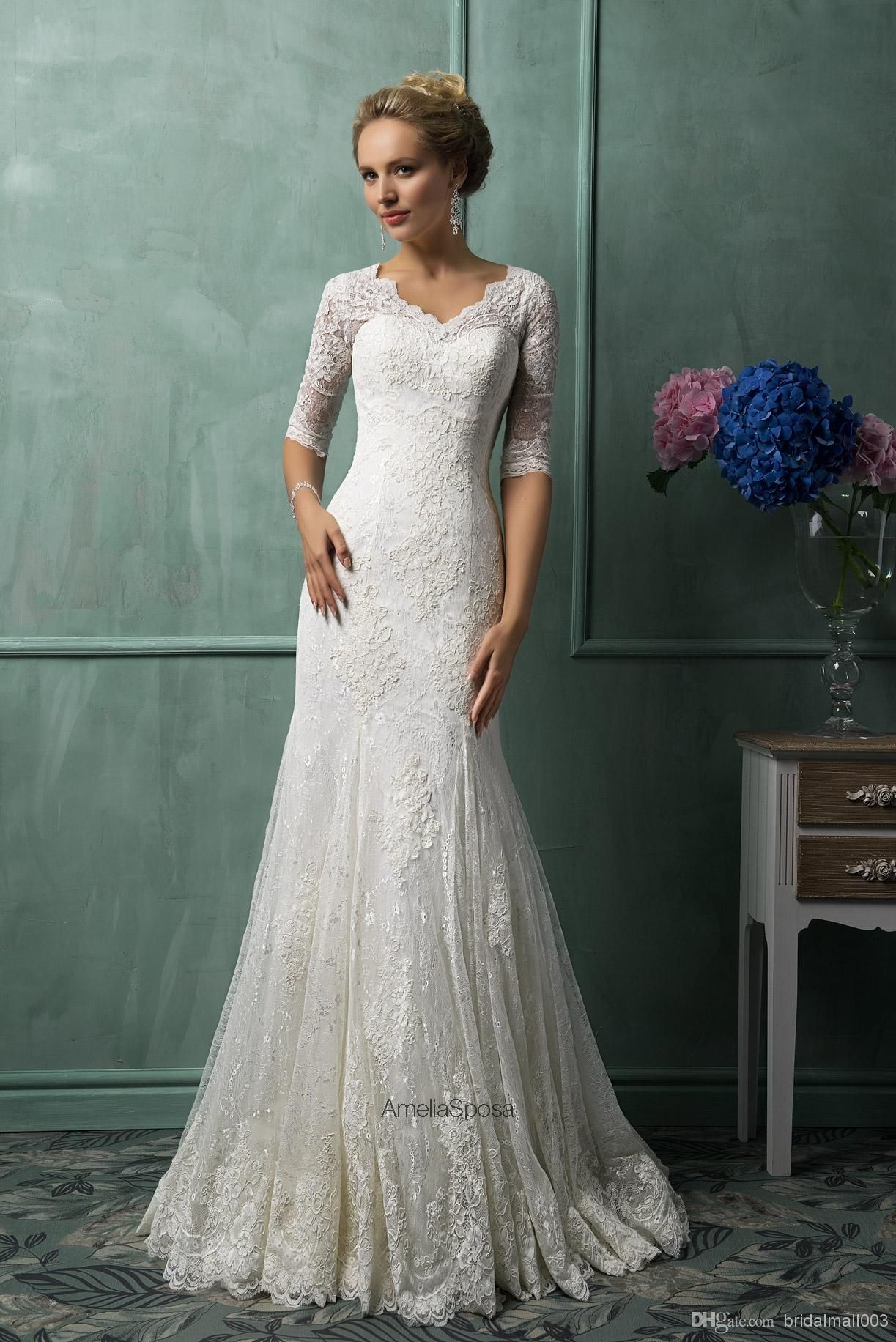 elegant lace wedding dress - Google Search | Older Bride ...