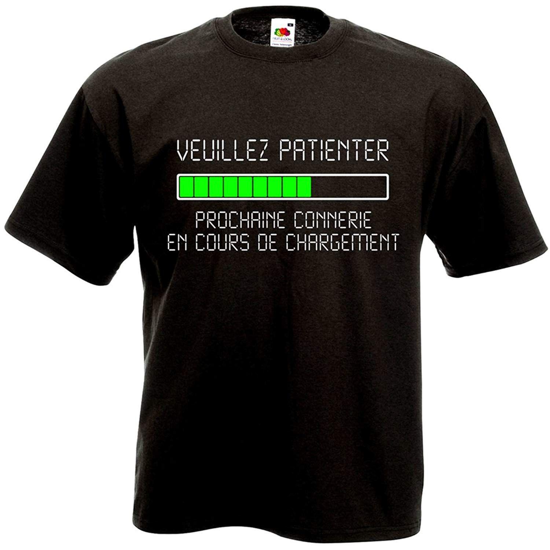 T-shirt Veuillez patienter Prochaine connerie en cours de chargement Geek Humour Loading Informatique