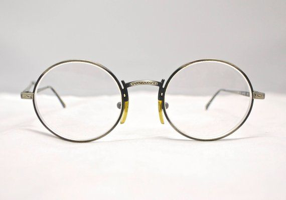 21344bc24029 Vintage GIORGIO ARMANI Brushed Metal Oval Eyeglasses   Model ...