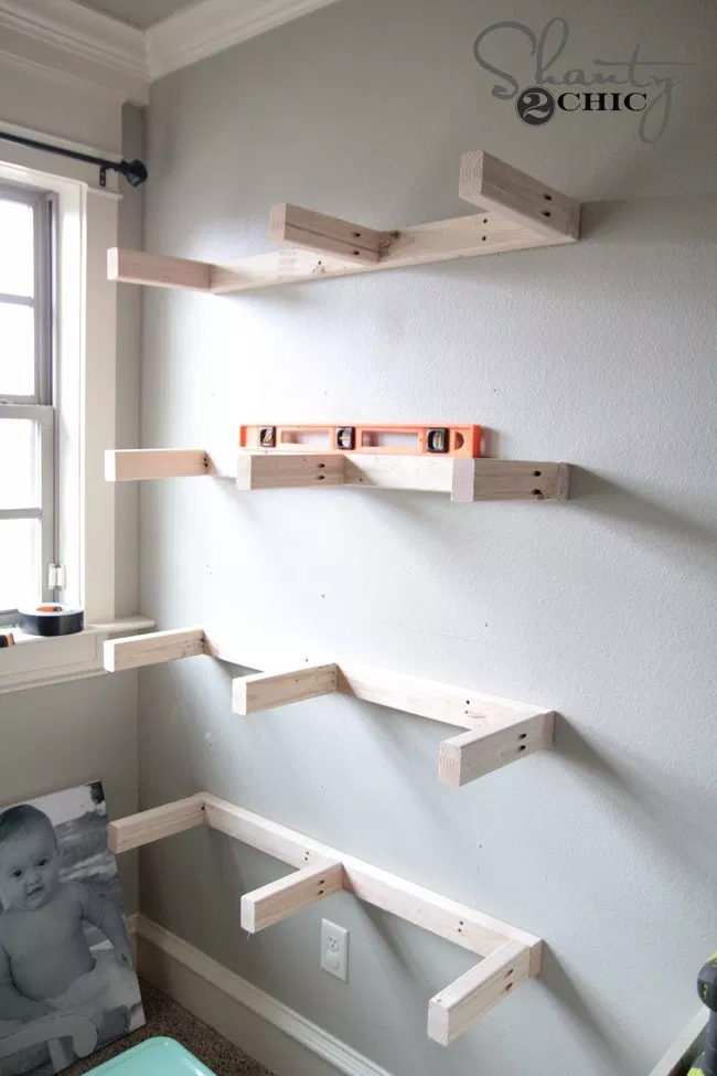 Get Cool DIY Shelves from shanty-2-chic.com