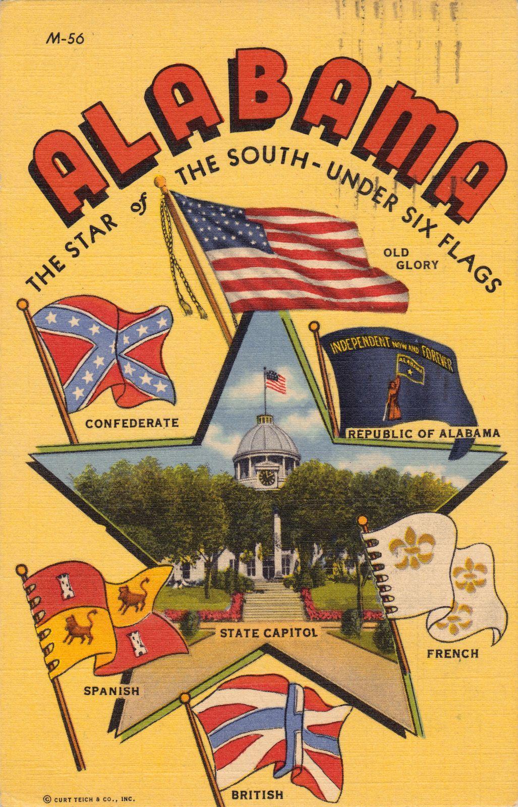 Tri-Cities Muscle Shoals Alabama JFK John F Kennedy Vintage Color ...