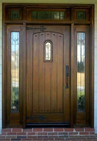 wooden front door | Wood Front Door Refinishing Business - Cary ...