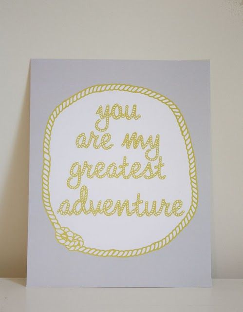 Tú eres mi mayor aventura...