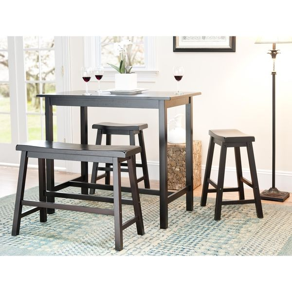 Safavieh Bistro 4-Piece Counter-Height Bench and Stool Pub Set ...