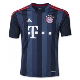 13-14 Bayern Munich Away Black&Blue Jersey Shirt