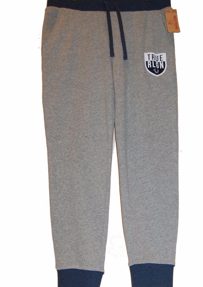c57ac41579 True Religion Authentic Gray Blue Men's Cotton Sweatpants Sz L NEW # TrueReligion #Pants