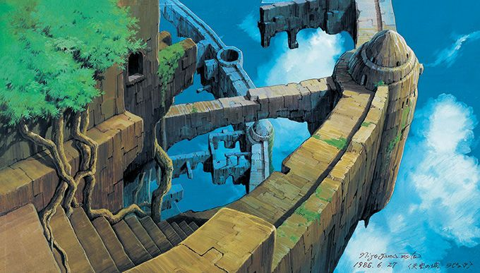 写真4 19 天空の城ラピュタ など手掛けた背景画家 山本二三の展覧会が 新潟 新津美術館で開催 天空の城ラピュタ 天空 の 城 ラピュタ