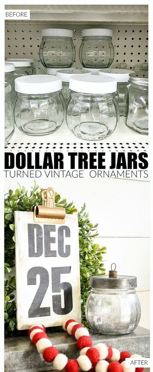 70+ DIY Dollar Store Christmas Decor Ideas #dollarstorechristmascrafts