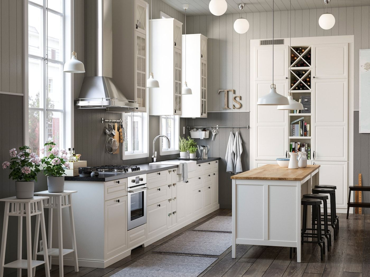 Cuisine Champetre En Ville Countryside Kitchen Ikea Kitchen Inspiration Ikea Kitchen Storage