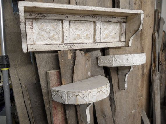 French Country Wall Shelf Cottage Chic Shelves Shabby Primitive Antique Style On Etsy 129 99