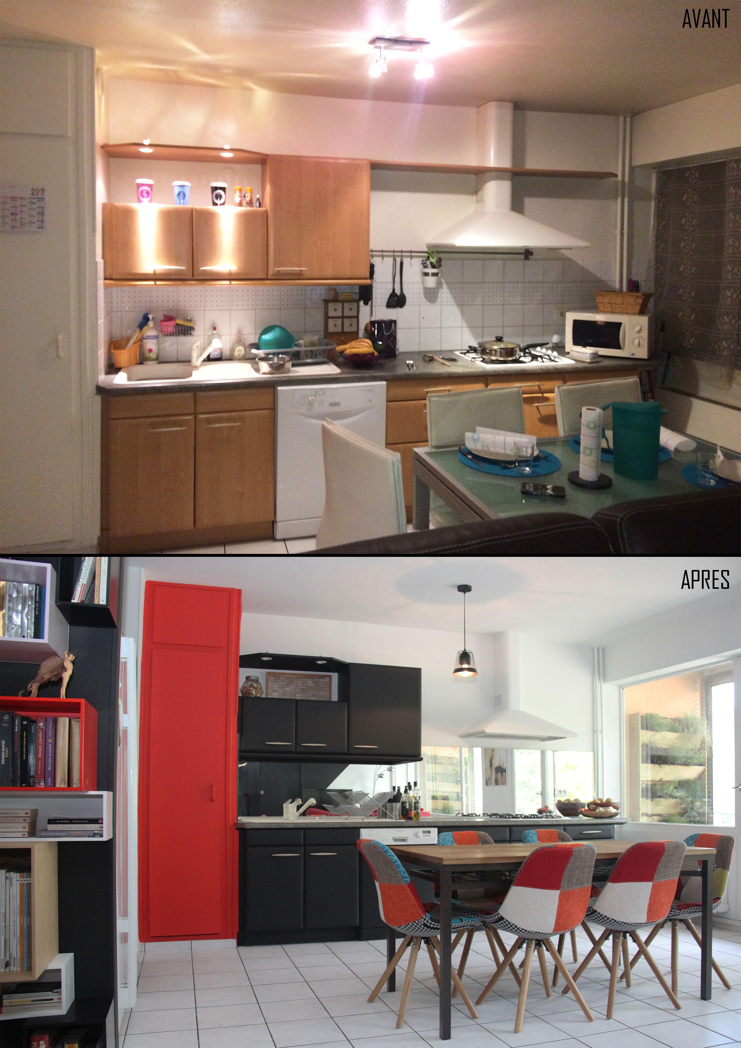 avant après cuisine : avec un petit budget une cuisine peut être ...
