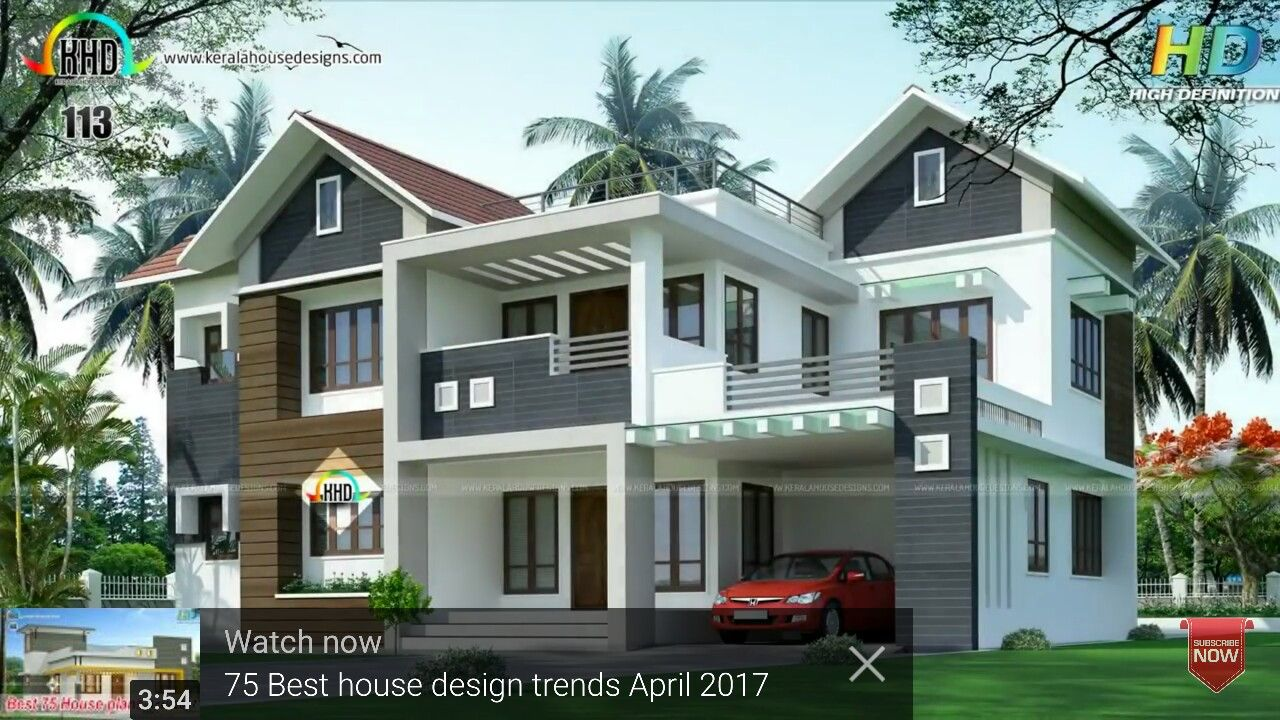 4 Bedroom Mixed Roof Home Part - 32: 2984 Square Feet, 4 Bedroom Mixed Roof House Plan By R It Designers,  Kannur, Kerala.