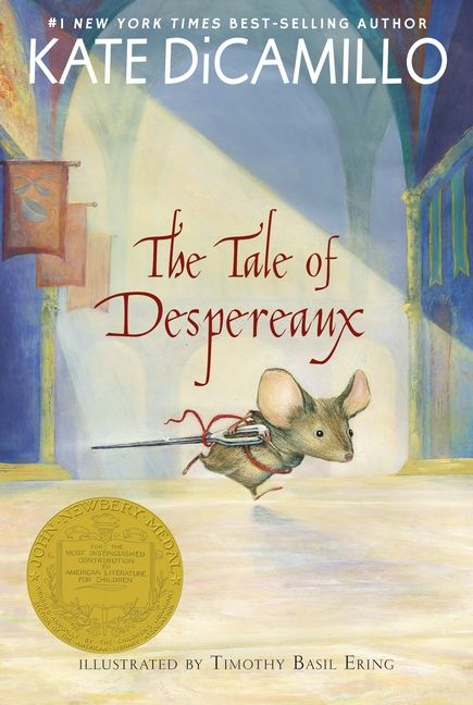 The Tale of Despereaux - Welcome to the story of Despereaux Tilling, a mouse who is in love with music, stories, and a princess named Pea. It is also the story of a rat called Roscuro, and Miggery Sow, a slow-witted serving girl who harbors a simple, impossible wish. These three characters are about to embark on a journey that will lead them down into a horrible dungeon, up into a glittering castle, and, into each other's lives. PB 9780763625290  GRL U #kidlit #middlegrade #books…