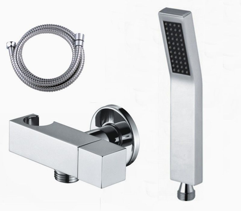 Free Shipping Handheld Shower Head Brass with angle valve Shut Off ...