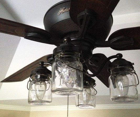 Mason Jar Ceiling Fan Light More Ceiling Fan In Kitchen ...