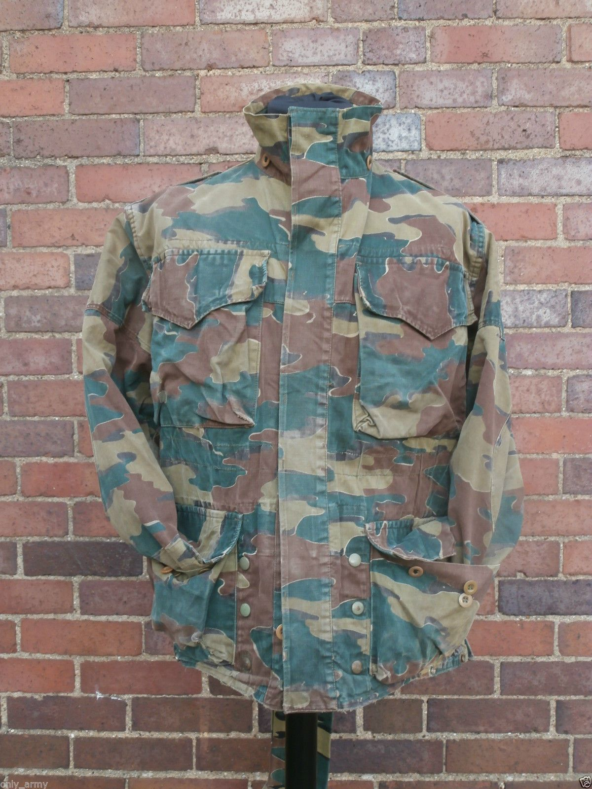 Para Army 1950s Trooper Jacket Denison Congo Belgian Cut Smock x55wE