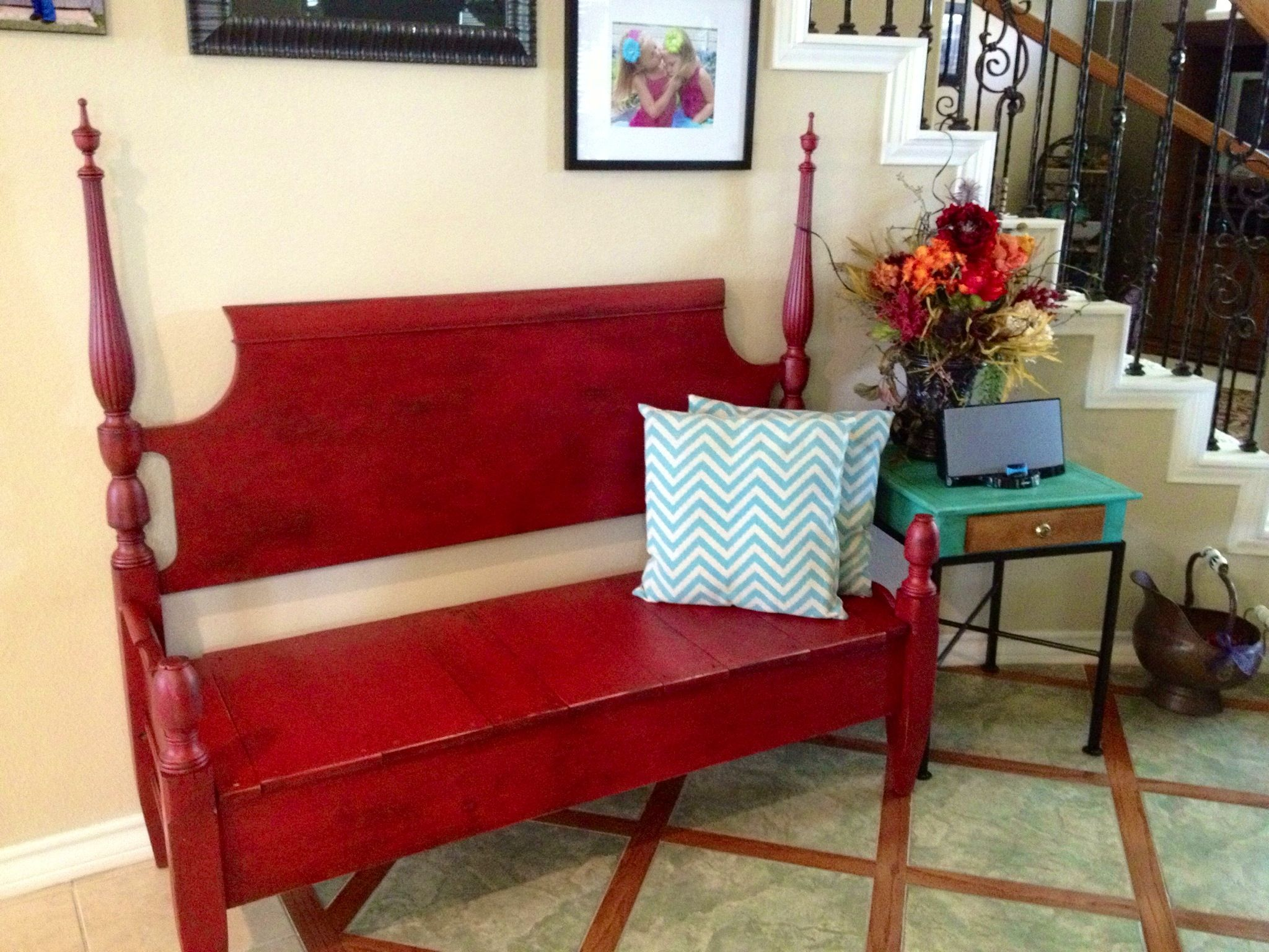 Headboard Bench Plans How To Make A Bench From An Old Headboard Footboard Decorating
