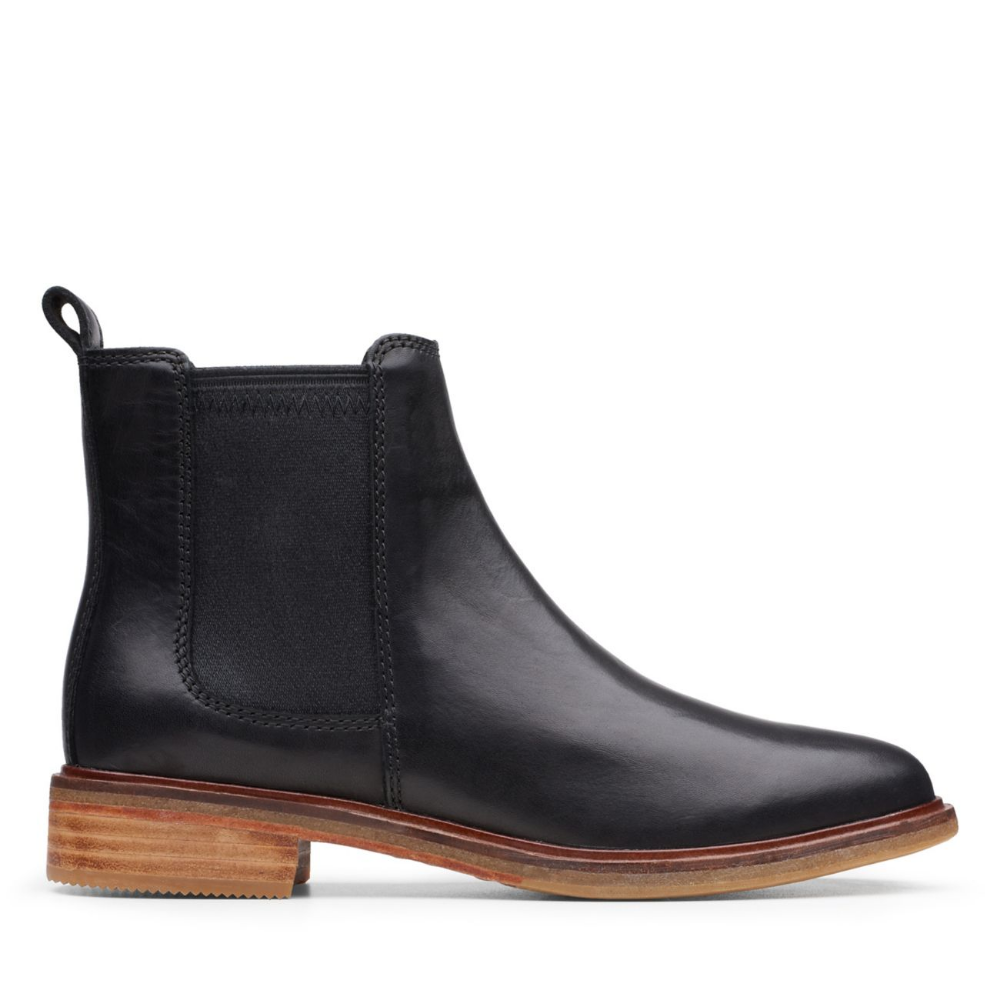 black leather boots clarks