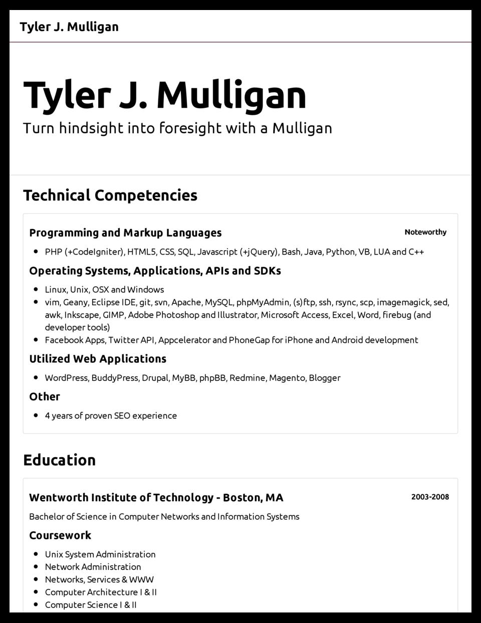 Basic Resume Template Pdf