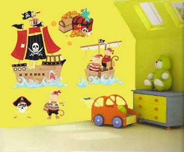 LARGE Boys/Childrens/Kids Bedroom PIRATE Wall Stickers