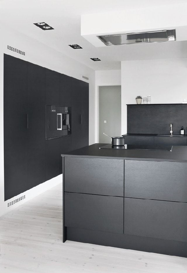 cocina negra jke03 cocina pinterest moderne k che offene k che y k che schwarz. Black Bedroom Furniture Sets. Home Design Ideas