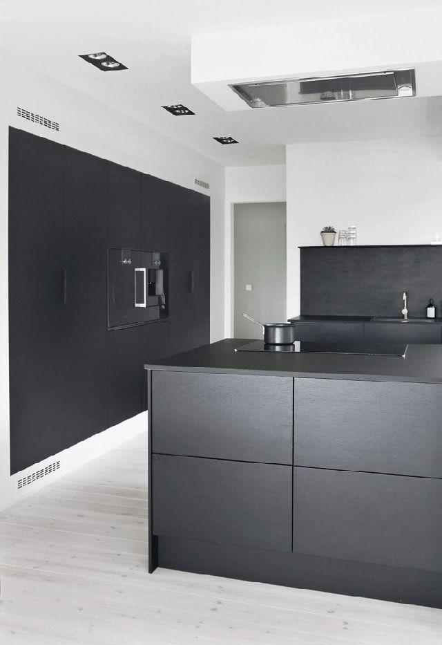cocina negra jke03 cocina pinterest moderne k che offene k che y k che schwarz. Black Bedroom Furniture Sets. Home Design Ideas
