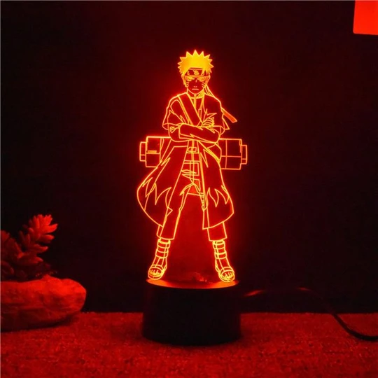 Naruto Sage Mode Sur Joylamp Lampe 3d In 2020 Lamp Night Light Kids Naruto