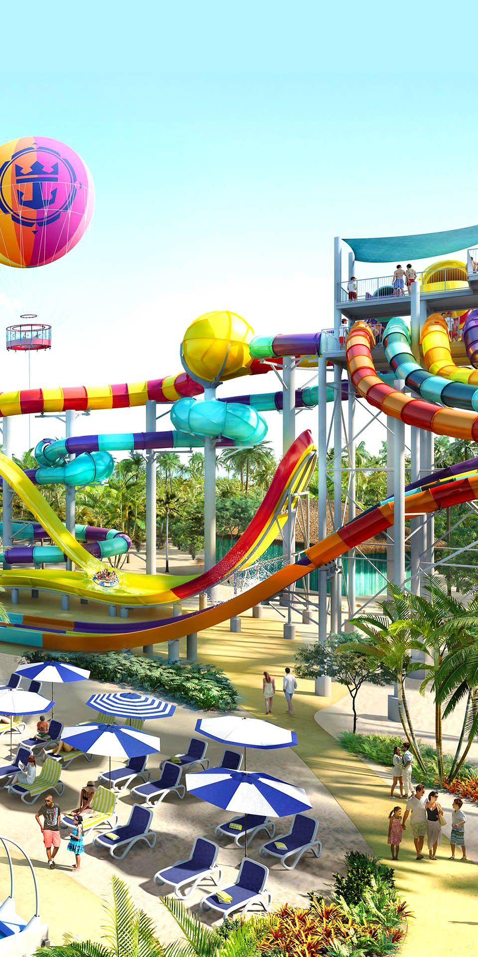 d70e1285d CocoCay, Bahamas | Share thrills as you and your crew take on six winding  slides at Family Tower. Check out all the thrills and chills awaiting at  Perfect ...