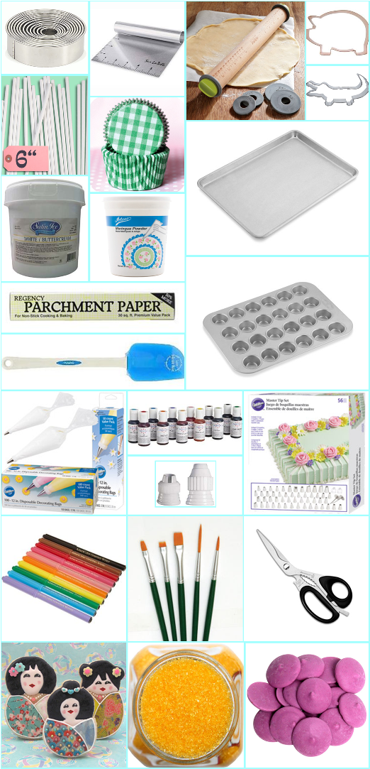 supplies and tools for baking and decorating sweets cupcake