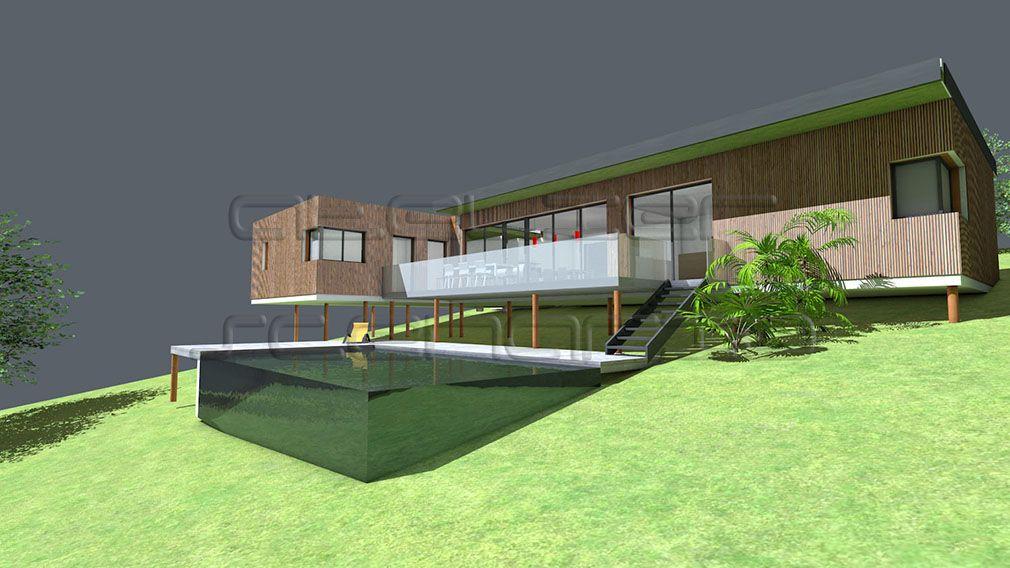 Plan de maison sur terrain en pente - Plans de maisons d\u0027architecte
